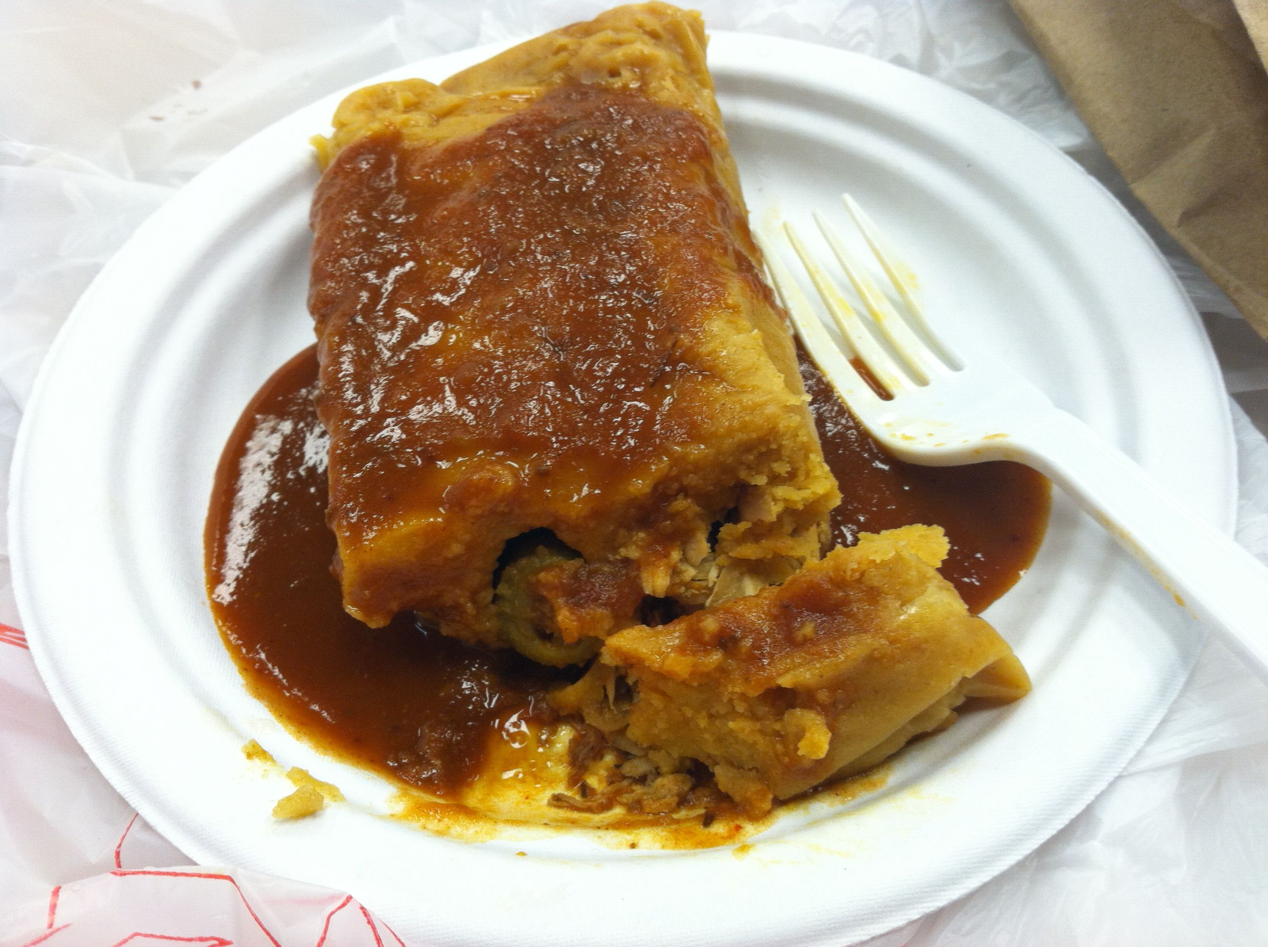 Tamale from Pilar's Tamales in Ann Arbor, MI