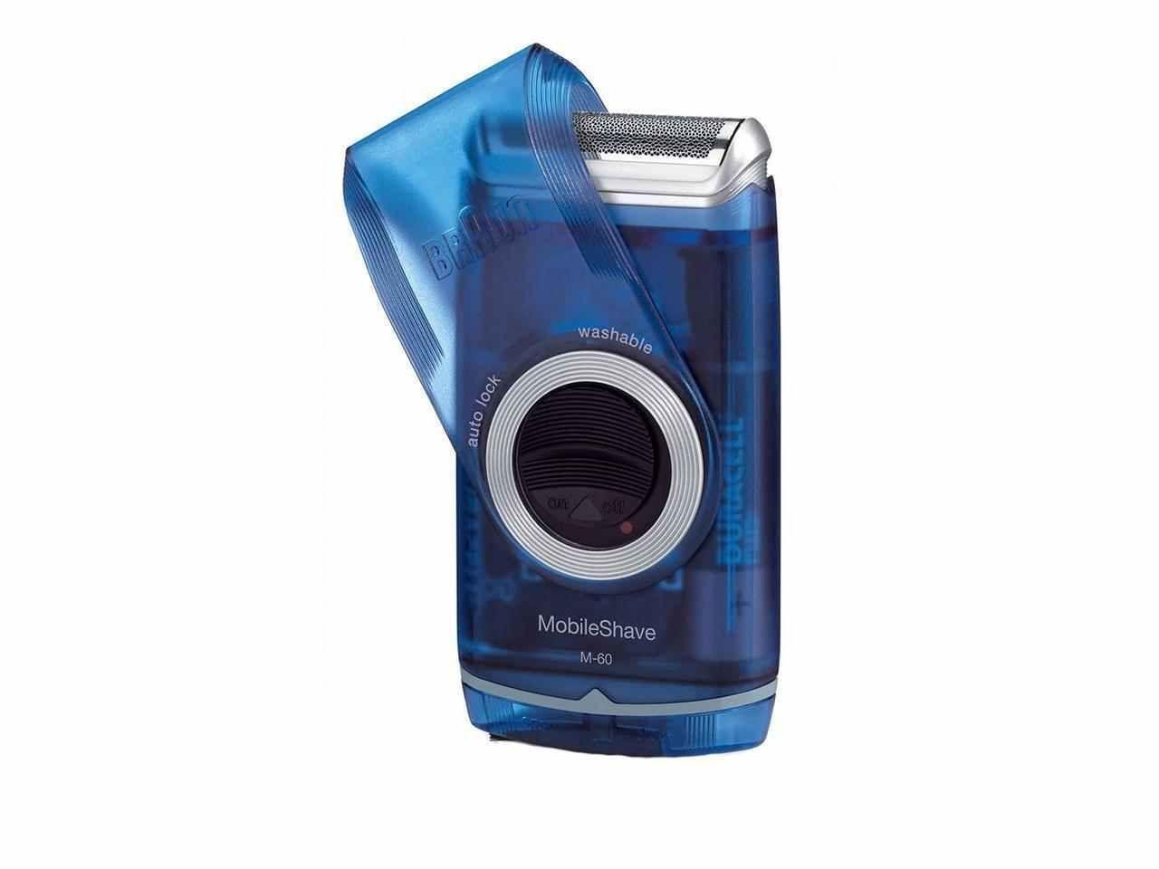 Braun m60 mobile shaver washable portable electric shaver