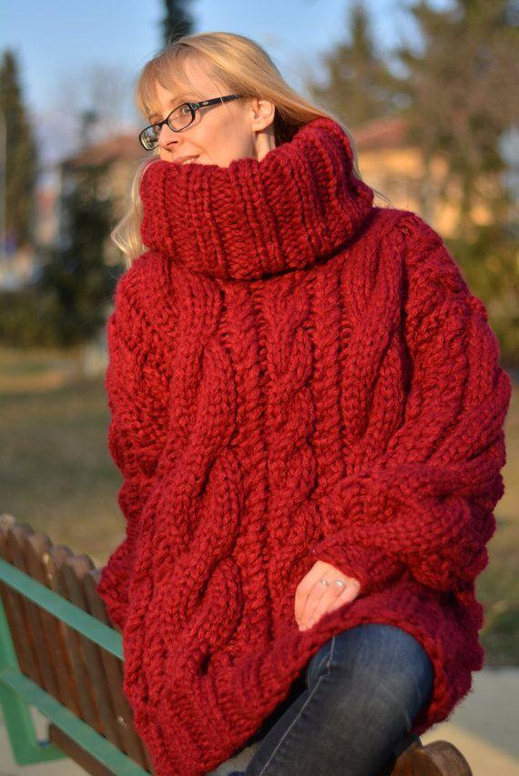 577ce2e44e9 READY wool sweater handmade chunky sweater hand knitted by Dukyana