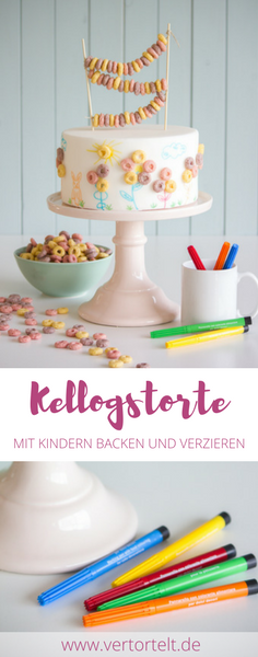 Backen Mit Kindern Eine Torte Bemalen Und Lustig Verzieren