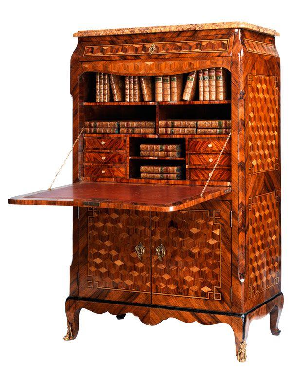 exceptional louis xv escritoire france 18th century bookworm pinterest secr taire. Black Bedroom Furniture Sets. Home Design Ideas