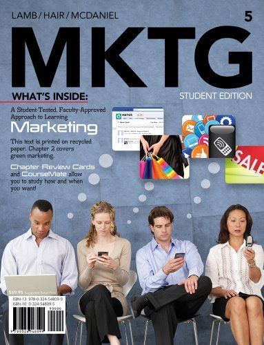 The popular MKTG marketing textbook by Lamb, Hair and McDaniel.