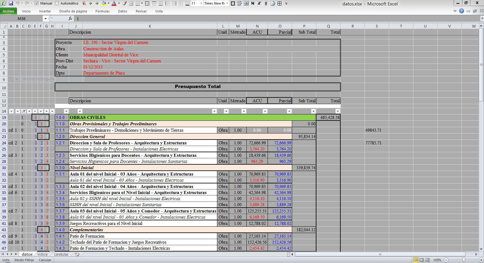 Pin En Excel Para Presupuestos De Obra Formato para presupuesto en excel