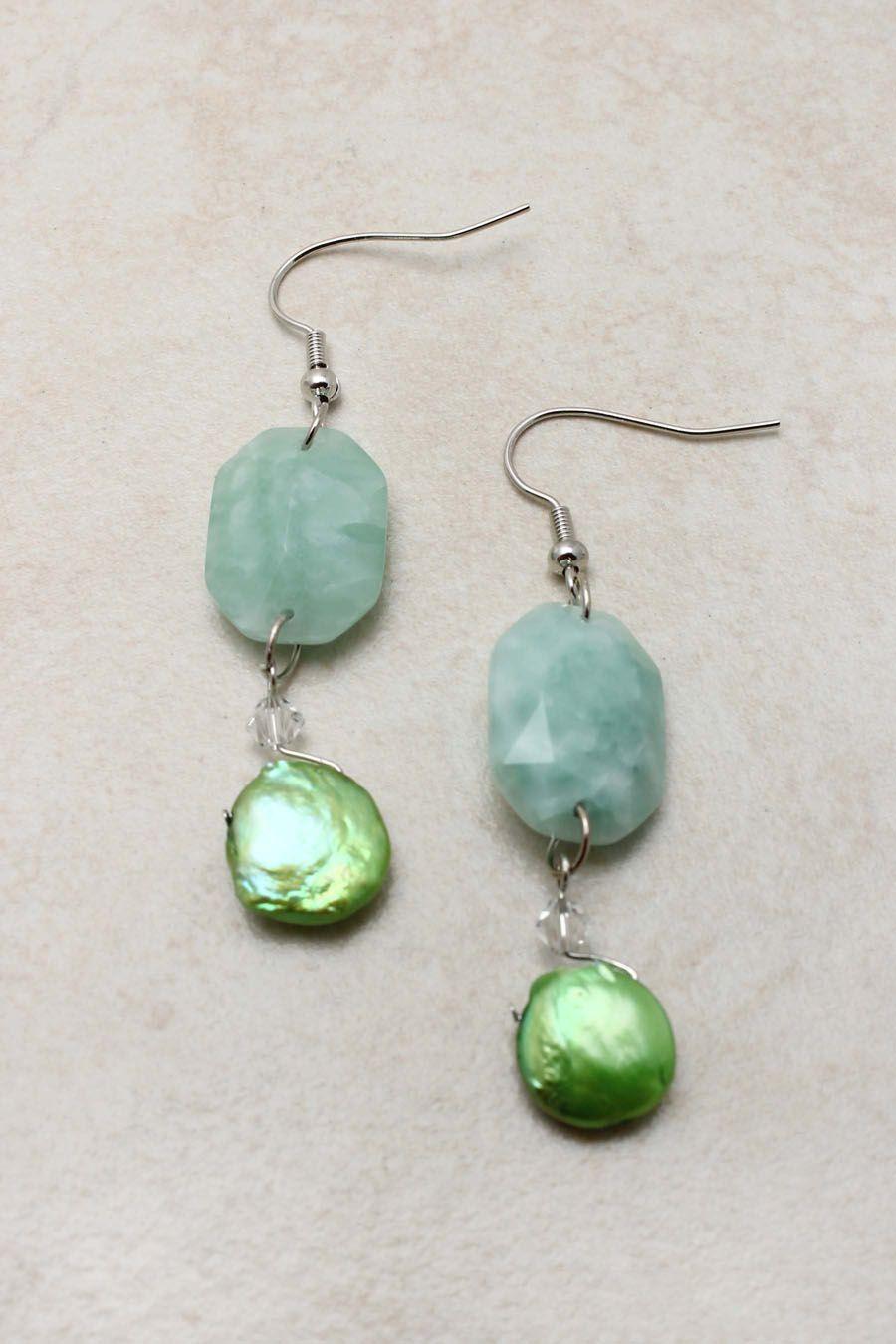Minty Pearl Sabine Earrings