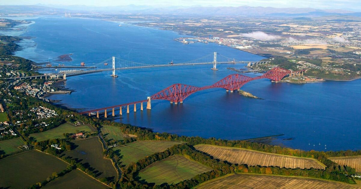 Forth bridge rail and road...