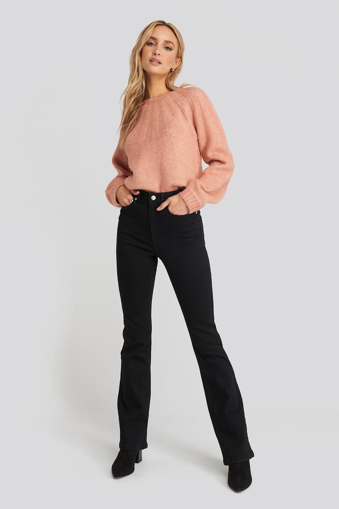 Photo of Skinny Bootcut Jeans Svart