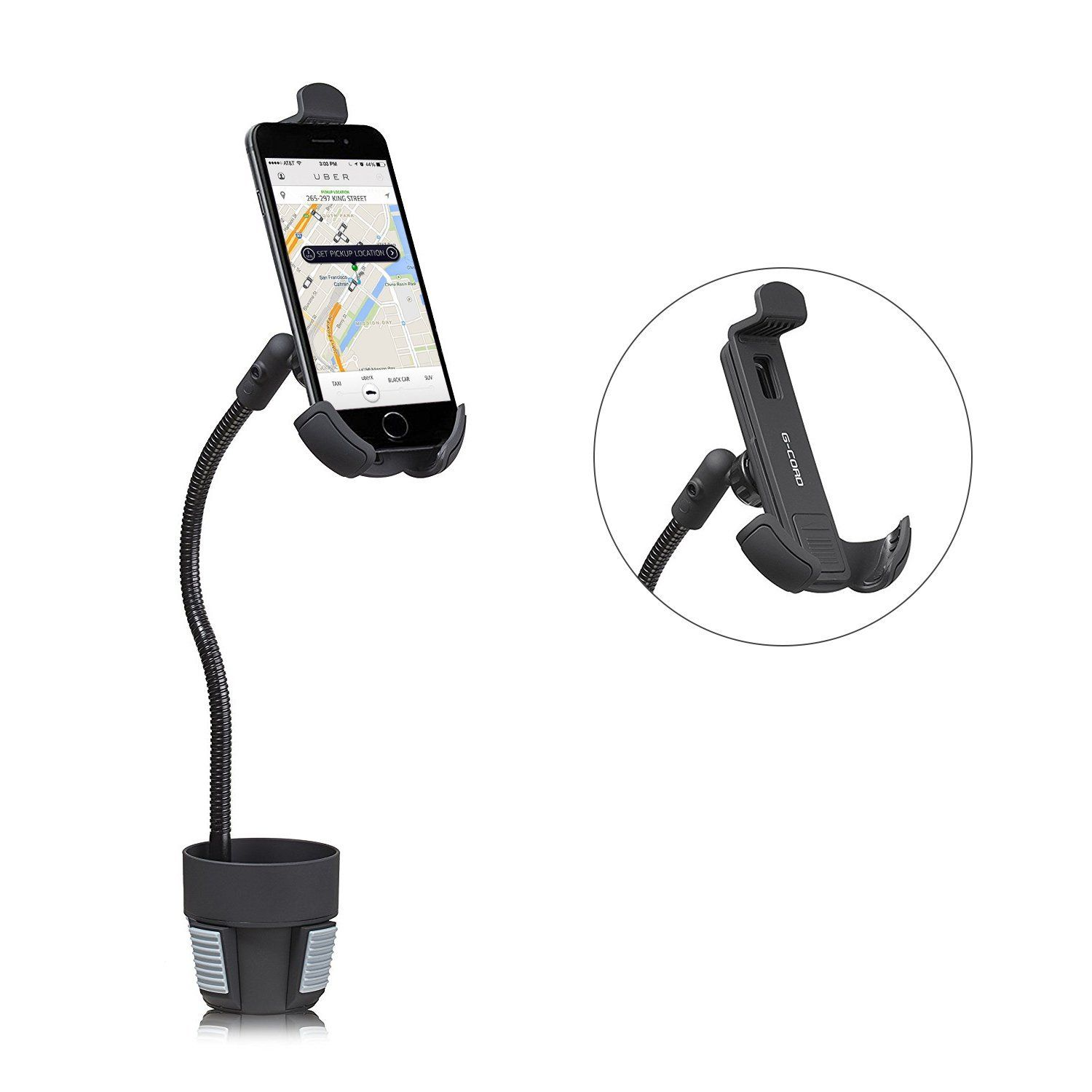 G-Cord® Flexible Extra Long Arm Cup Holder Mount For
