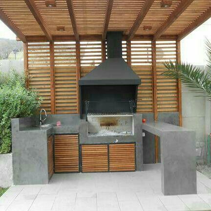 Pin de gabriela cordova en bbq pinterest horno ideas for Asador para jardin