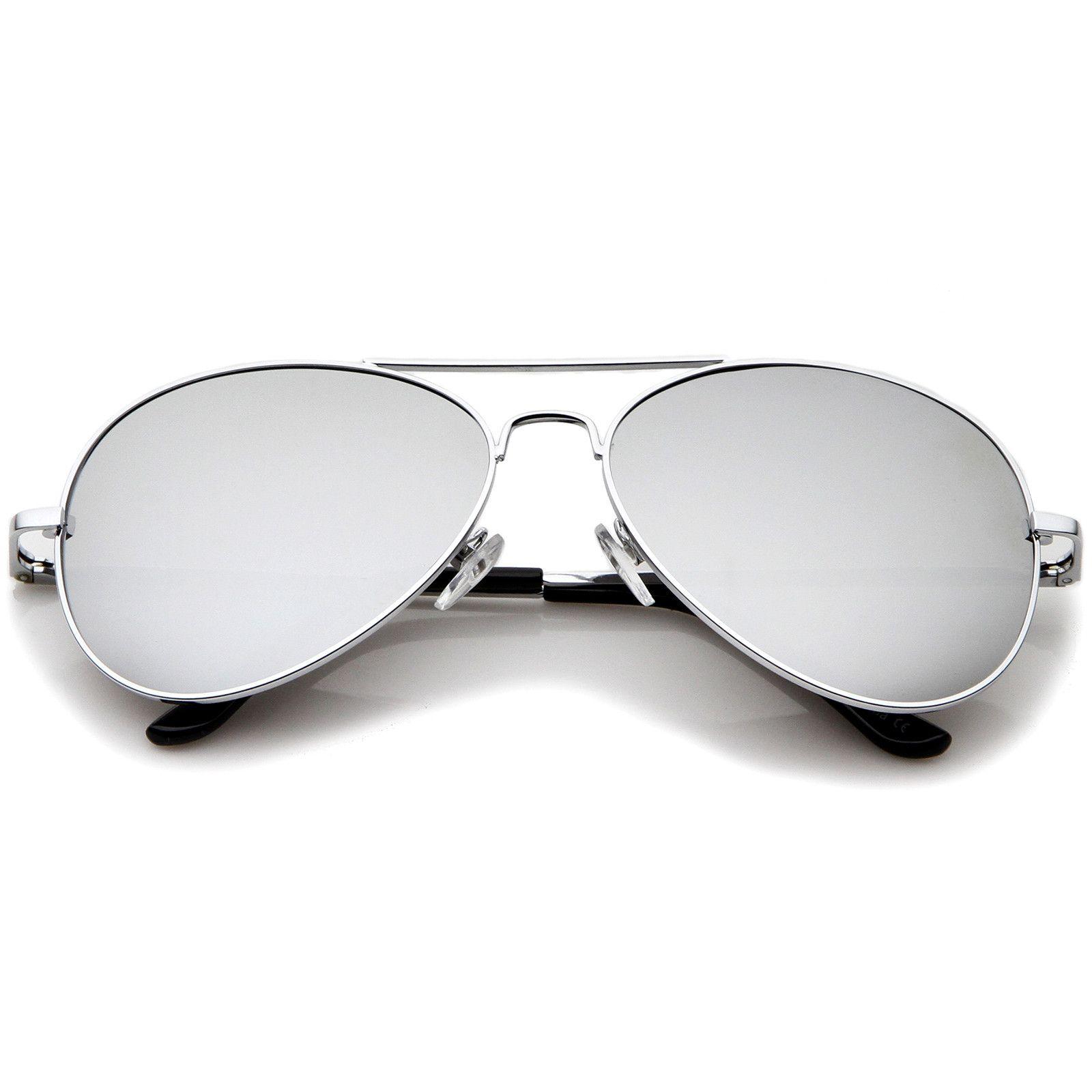 c266efed6f Classic Metal Frame Spring Hinges Color Mirror Lens Aviator Sunglasses 56mm   sunglassla  sunglass  mirrored  bold  womens  sunglasses  summer  clear   purple ...