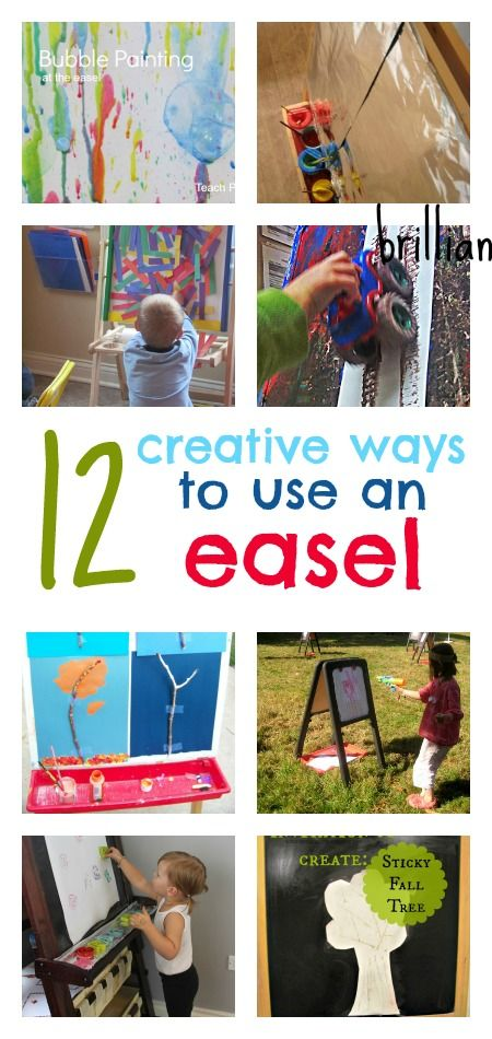 Lots of different ways to use an easel - fun, creative ...