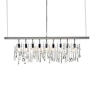 Linear strand crystal chandelier chandeliers crystals and lights linear strand crystal chandelier aloadofball Choice Image