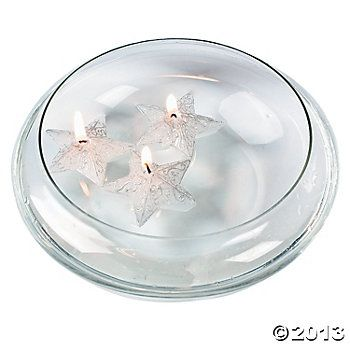 Silver Star-Shaped Floating Candles