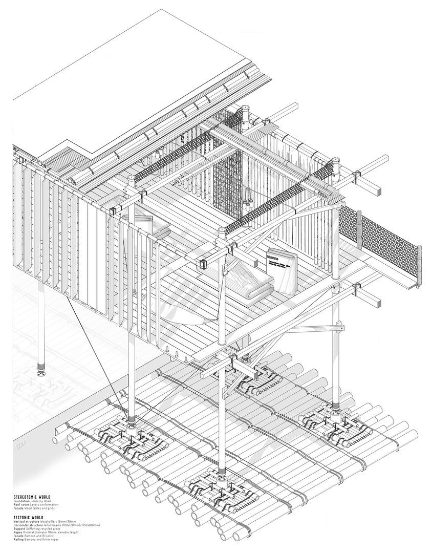 Muziris Re Discover Section Drawing Architecture