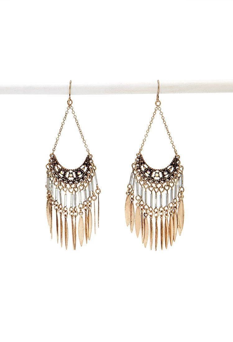 Beaded Chandelier Duster Earrings | Forever 21 - 1000174728
