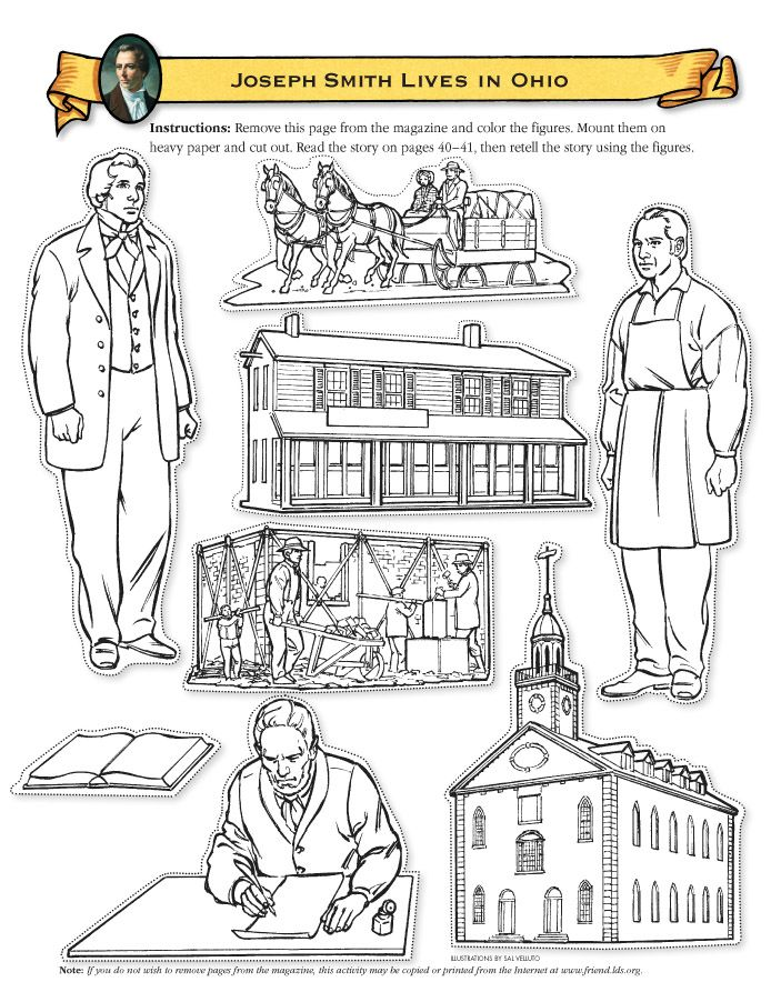 Joseph Smith Lives in Ohio cutout figures | pv | Pinterest | Ohio ...