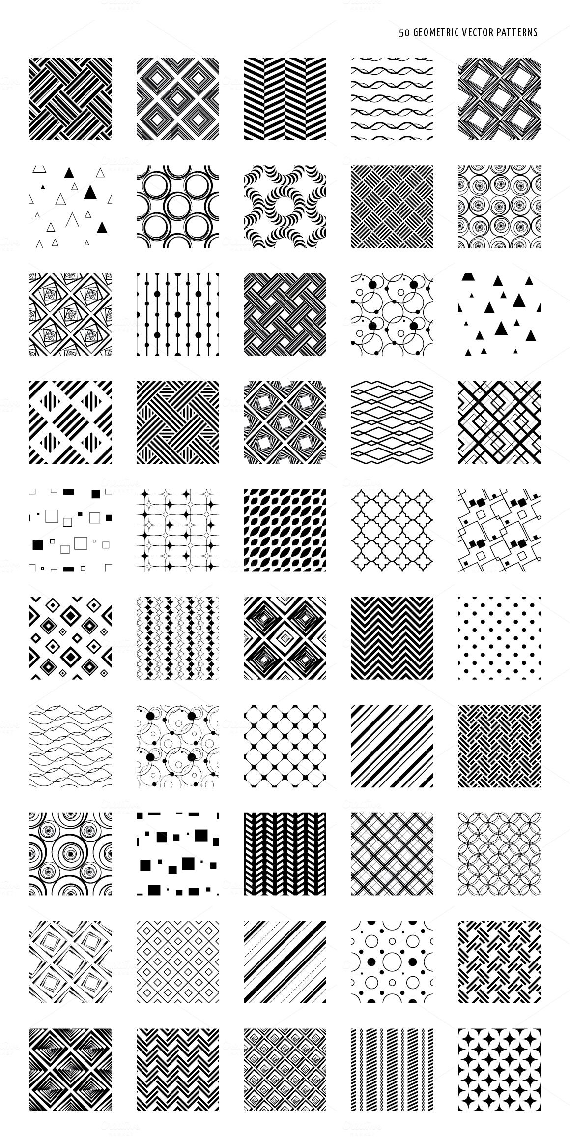 Abstract geometric vector patterns by design by nube on