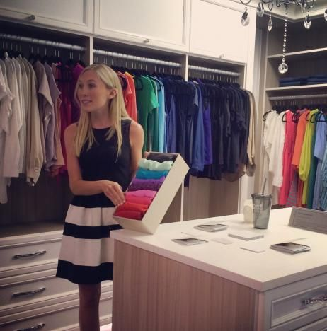 Katie Oswald Of NEAT Method Dallas Presenting #organizing Tips And Tricks  At The Grand Opening Of California Closets In Dallas #organize #closet