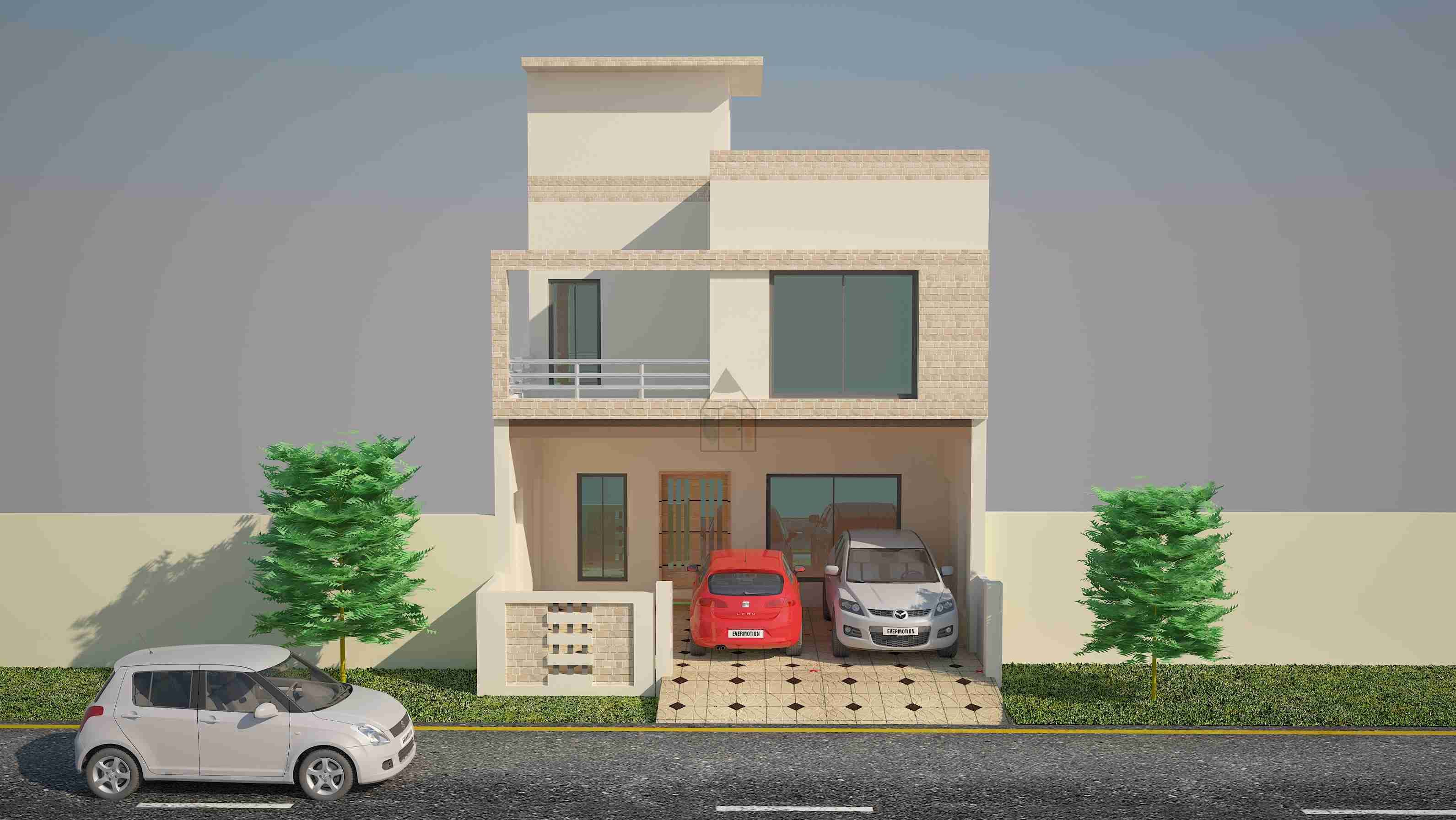 Front Elevation Of 6 Marla Houses : Architectural design of marla house modern