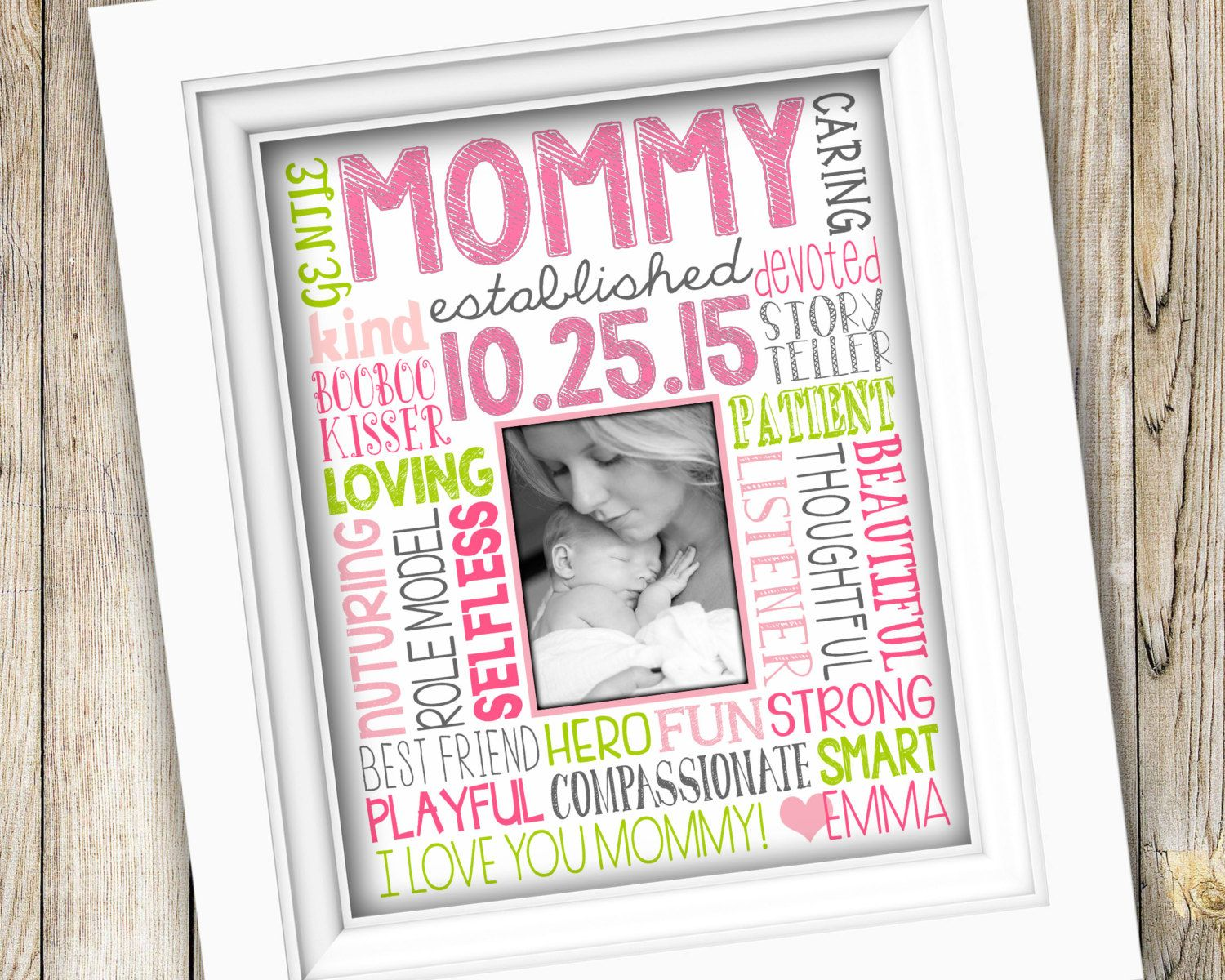 Mommy Gift Frame With Images First Mothers Day Gifts First Mothers Day New Mommy Gifts
