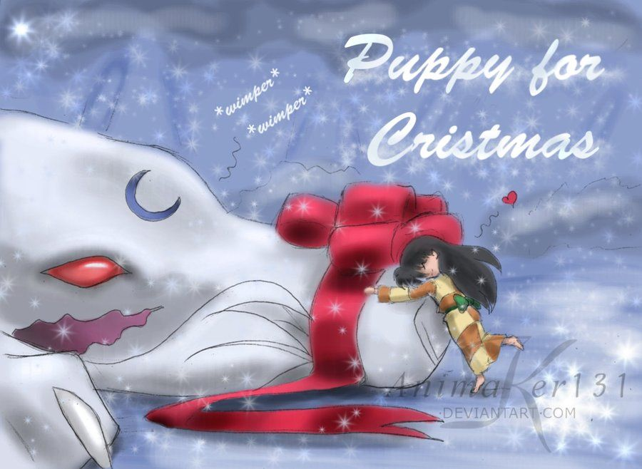 Puppy for Christmas by Animaker131 | Sesshomaru and Rin
