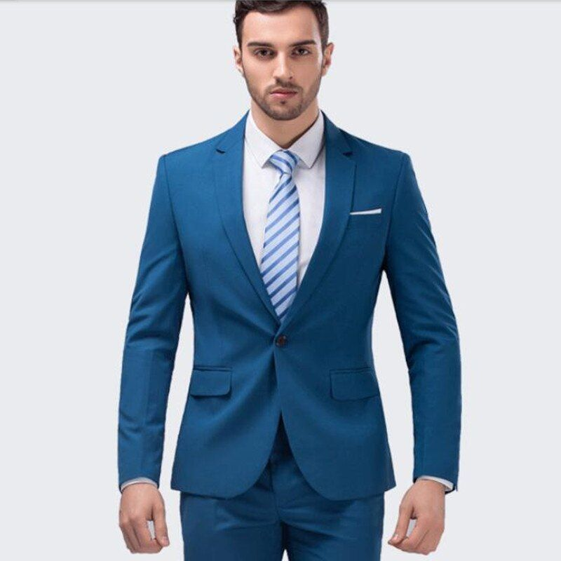 Custom Made New Style Turquoise Men's Wedding Suits Groom Tuxedo Business Formal Party Suit Men Suits (JacketPants) W329 #men#39;ssuits