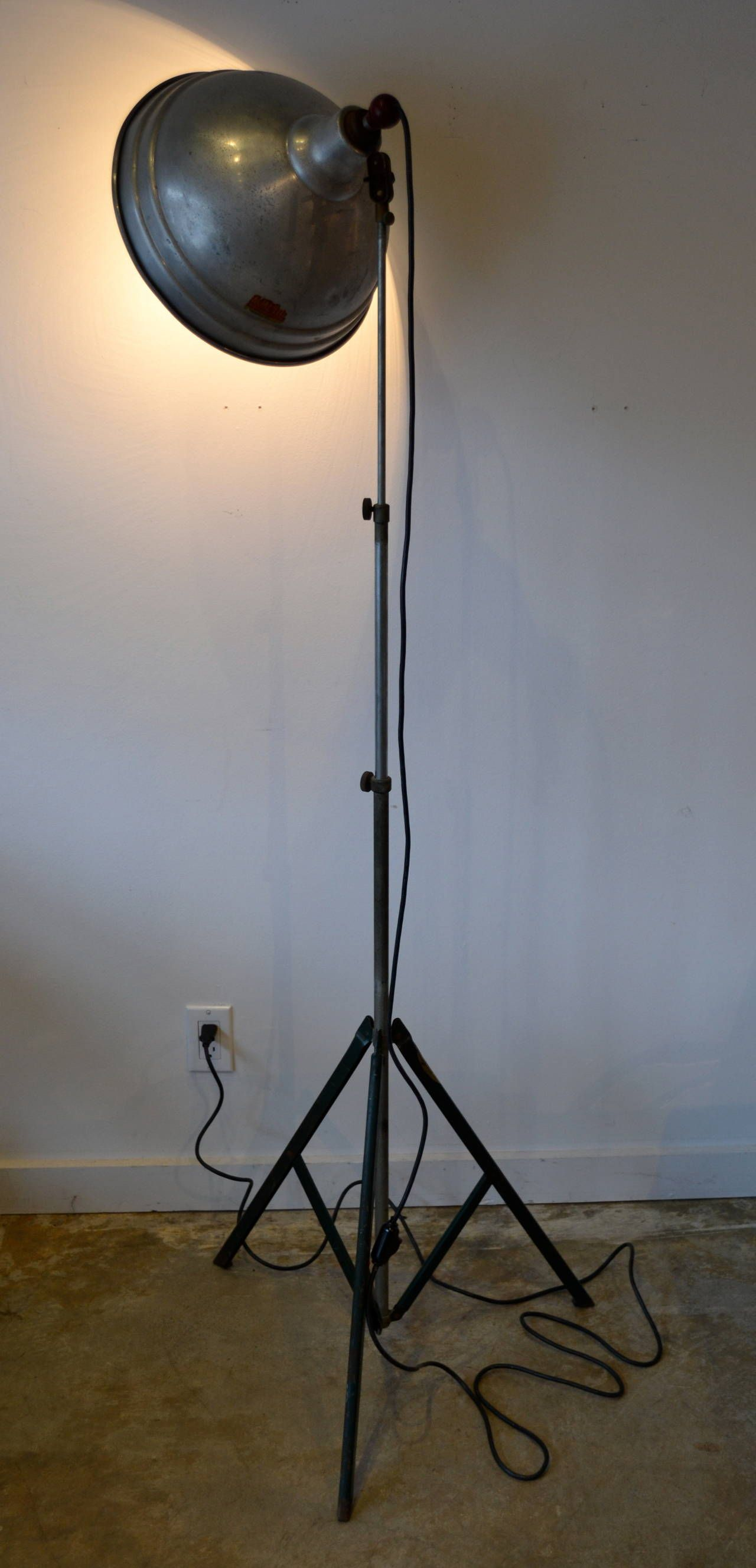 Vintage Industrial Floor Lamp by Acme Lite, USA | From a unique collection of antique and modern floor lamps at https://www.1stdibs.com/furniture/lighting/floor-lamps/