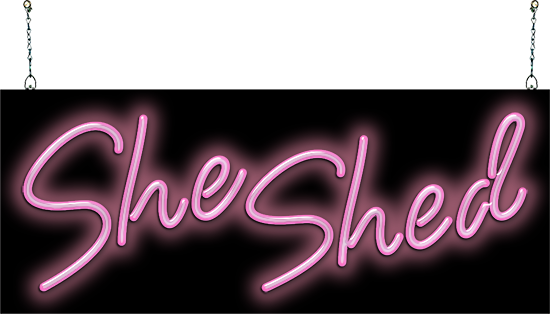 She Shed Neon Sign in 2020 Neon signs, She shed, Shed signs