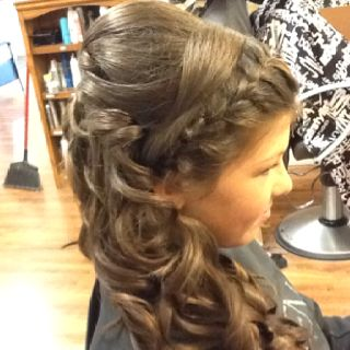 Hair for prom.