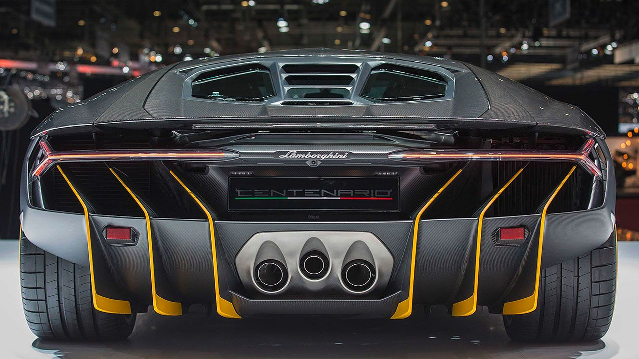 Full Rear View Of The New Lamborghini Centenario Lp770 4 Note The