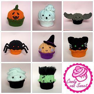 This is the crochet pattern for halloween-cupcakes with swirl-frosting. It contains the cake, frosting, cream puff and everything you need for the halloween style. And of course some inspiration for more cupcakes.