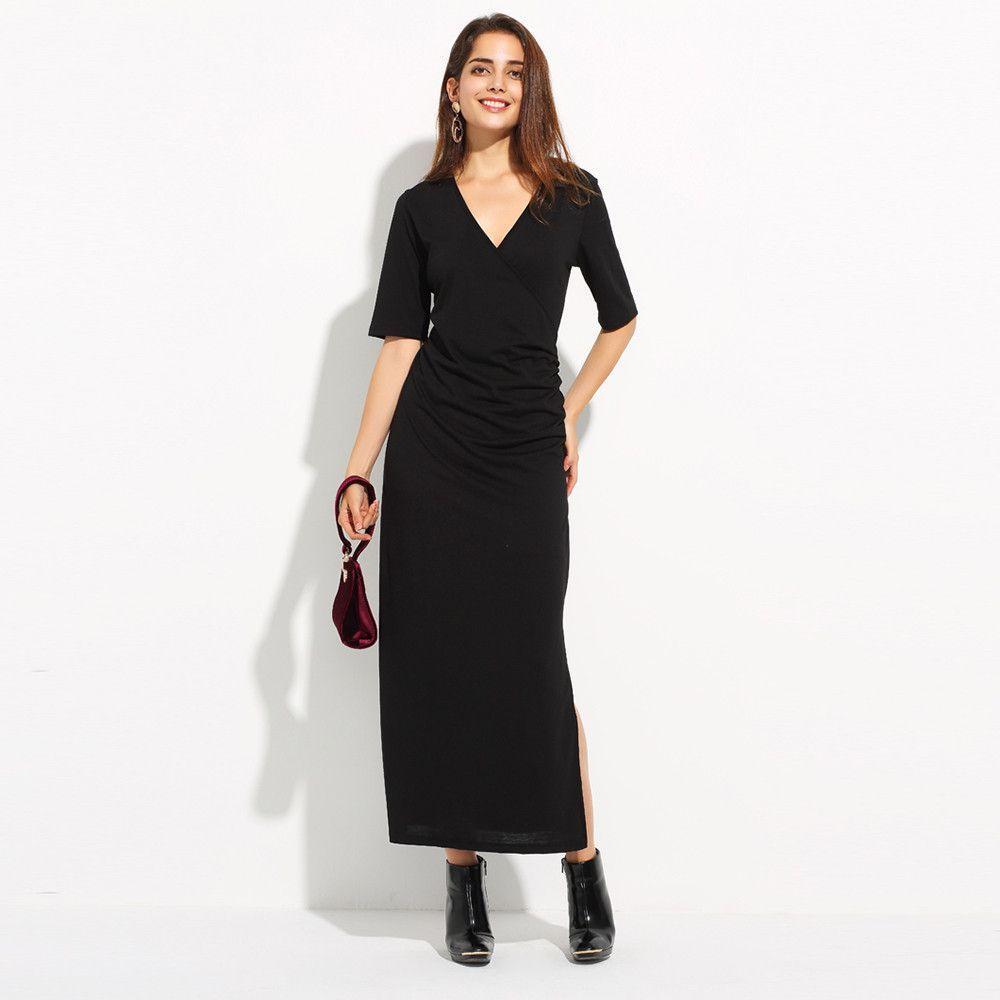 Hdy haoduoyi v neck fashion slim women dress street side split