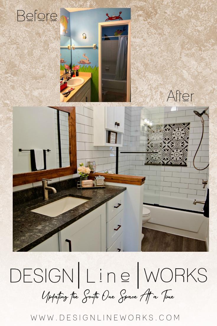 a sweet little farmhouse chic bathroom renovation in jacksonville fl rh pinterest com