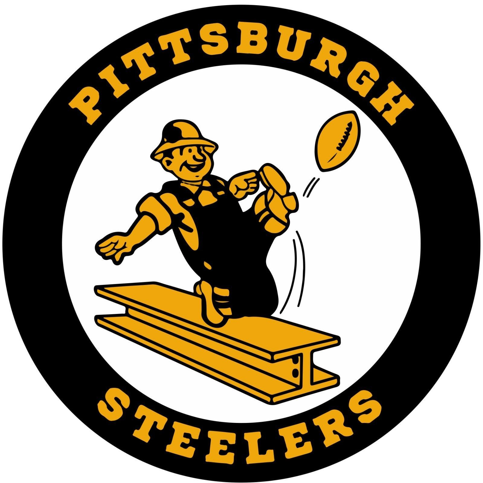 Pittsburgh Steelers Retro NFL Vinyl Decal / Sticker Sizes