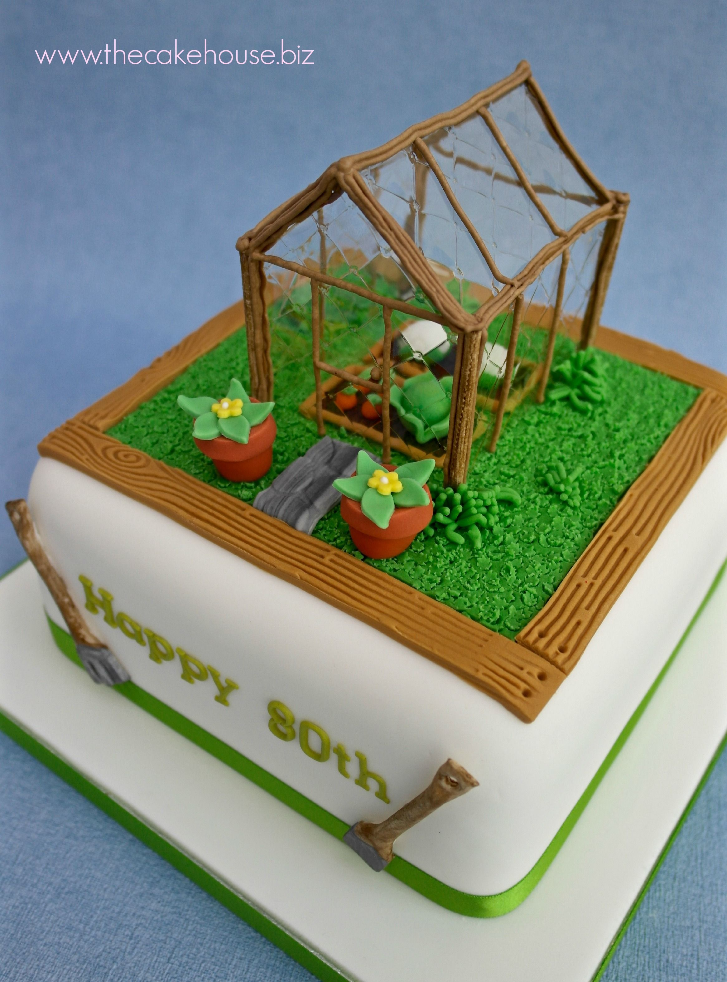 Edible Greenhouse Birthday Cake Celebration Cakes By