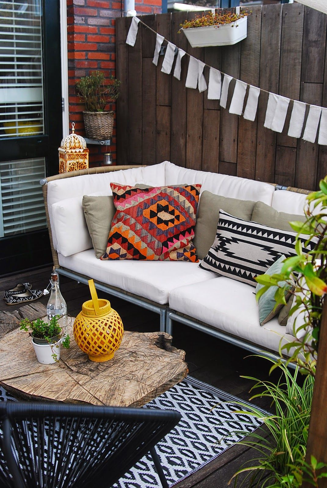 bohemien rustic terras aestheticyou je t 39 outdoor living pinterest balkon. Black Bedroom Furniture Sets. Home Design Ideas
