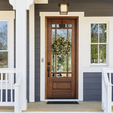 Andalucia 9 Lite True Divided Lite Single Entry Door Single Entry Doors Brick Exterior House Exterior Doors