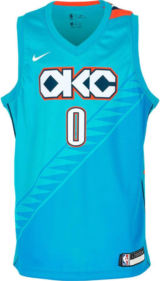 cheap for discount 46c91 c5aec Nike Team Kids' Oklahoma City Thunder NBA Russel Westbrook ...