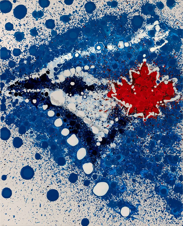5a6607ff352 Toronto Blue Jays Abstract Art