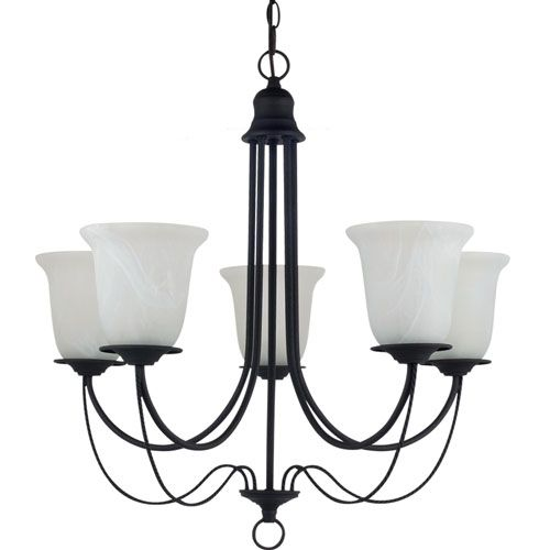 Plymouth Blacksmith  Five-Light Chandelier Bellacor