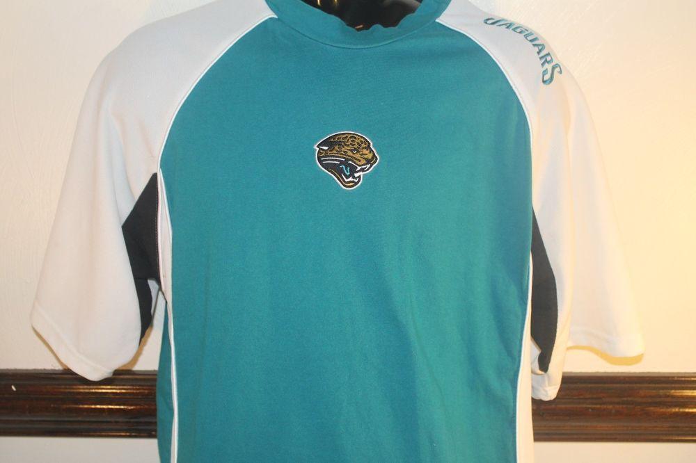b0eb8bb6 NFL Jacksonville Jaguars Shirt Logo Apparel Embroidered Vintage ...