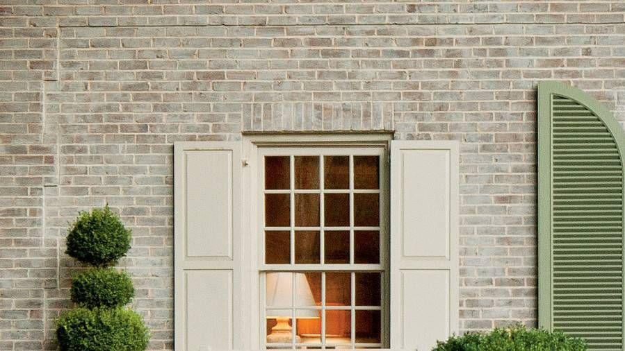 A Charming Restoration Brick house colors, Whitewash