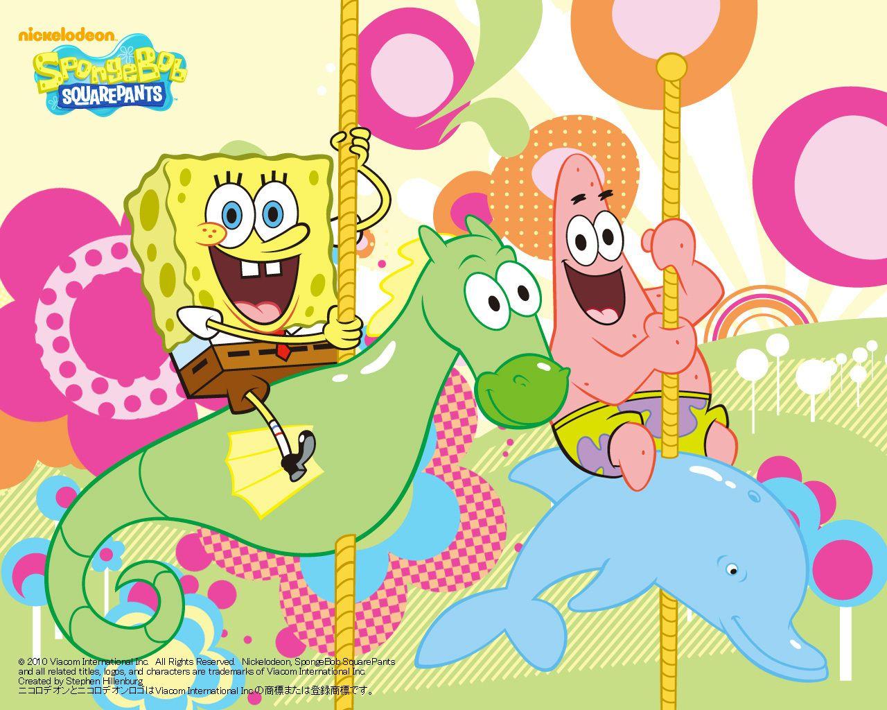 Sea Horsie Spongebob Squarepants Wallpaper Bg Wallpaper Pattern