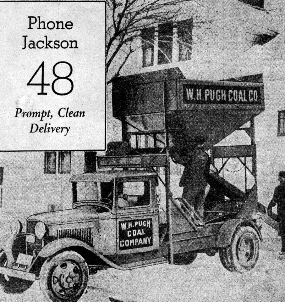 Pugh Coal Co Ad 1936 Appalachia Coal Mining Racine Wisconsin