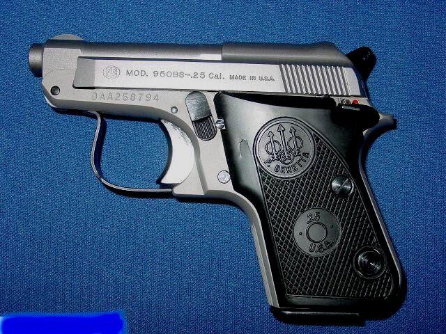 Beretta Model 950BS Jetfire  25 ACP Inox  | Weaponry | Guns, Hand