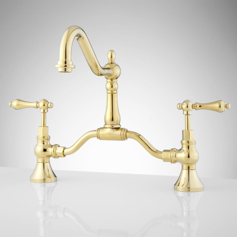 Elnora Bridge Bathroom Faucet Lever Handles Bathroom Sink