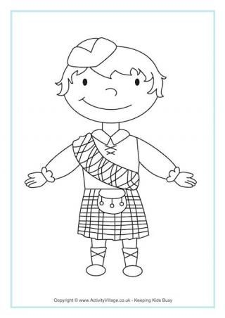 Map Of Scotland Colouring Page Coloring Pages For Boys Burns