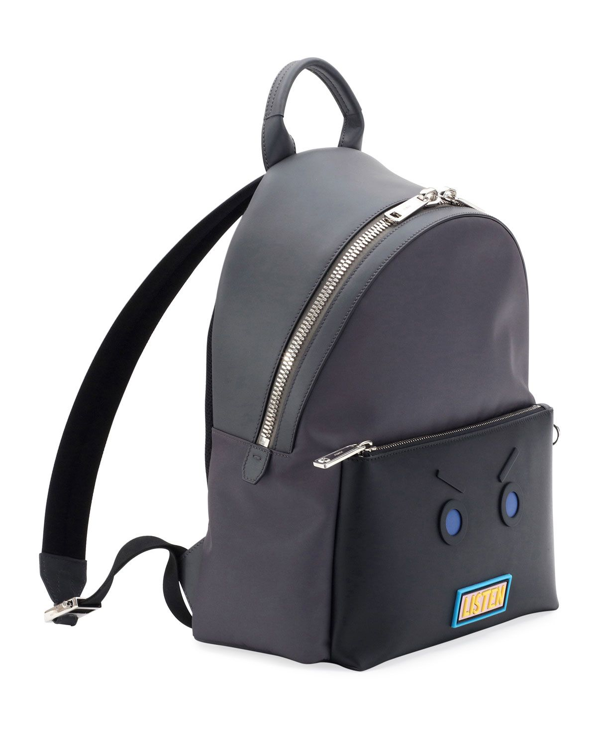 be9edb48eff Fendi Vocabulary & Faces Leather Backpack | Products | Leather ...