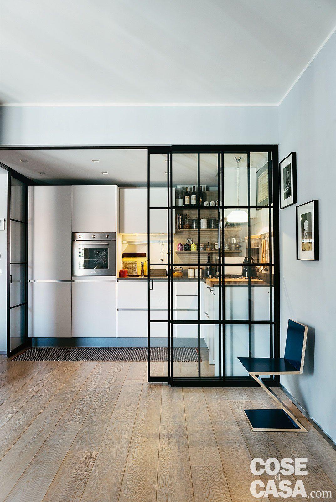 95 mq con una soluzione originale per separare la cucina e for Arredamento originale casa