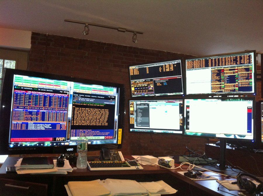 Wall Street Trading Desks Business Insider Trading Desk Desk Setup Computer Room