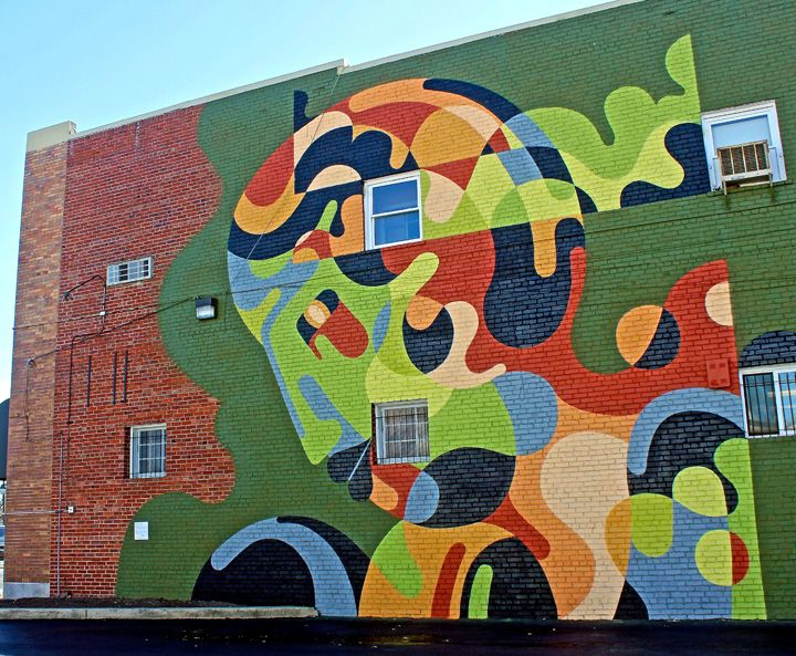 District Walls Abstract Mural Art In Dc By Robert Proch Reka Waone Jessie And Katey Remi Rough Above Jason Woodside Street Art Mural Art Art